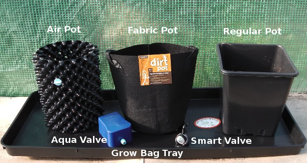 Pots are easier to water in grow bags trays.