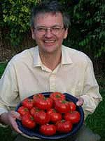 Nick with Oregon Spring Tomatoes